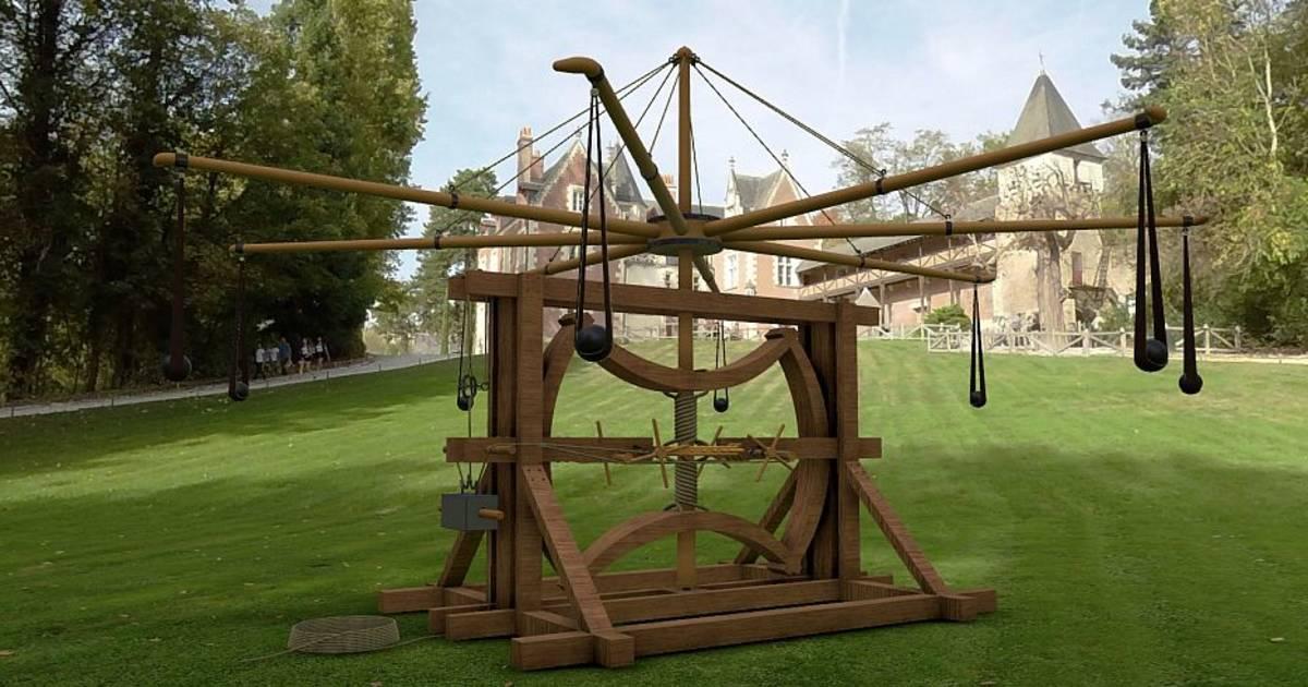 クロ・リュセ城に展示されたレオナルド・ダ・ヴィンチの発明品