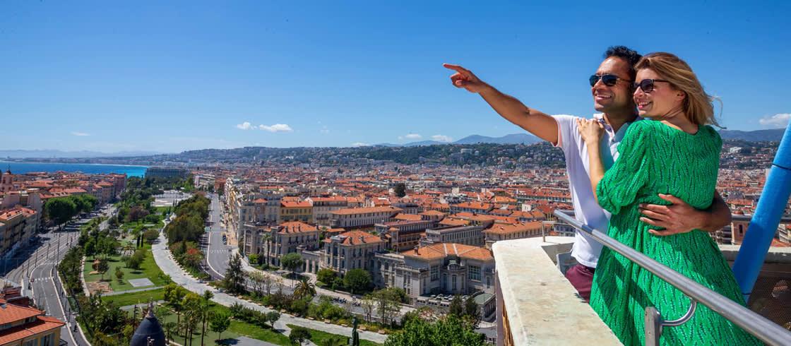 Genießen Sie die tollen Aussichtspunkte in Nizza und Umgebung