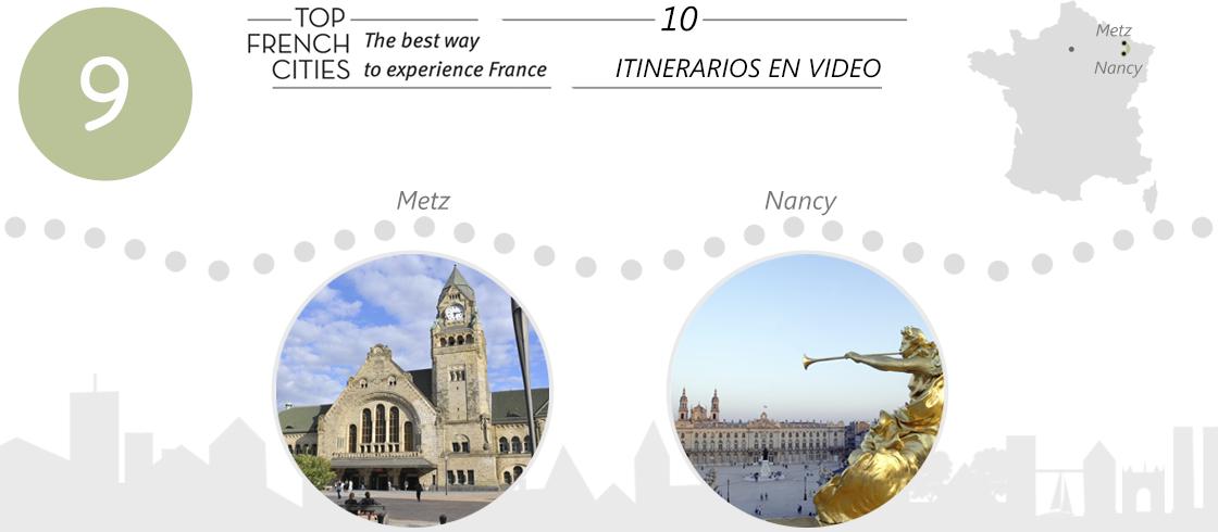 Un video sobre el itinerario de Metz a Nancy.