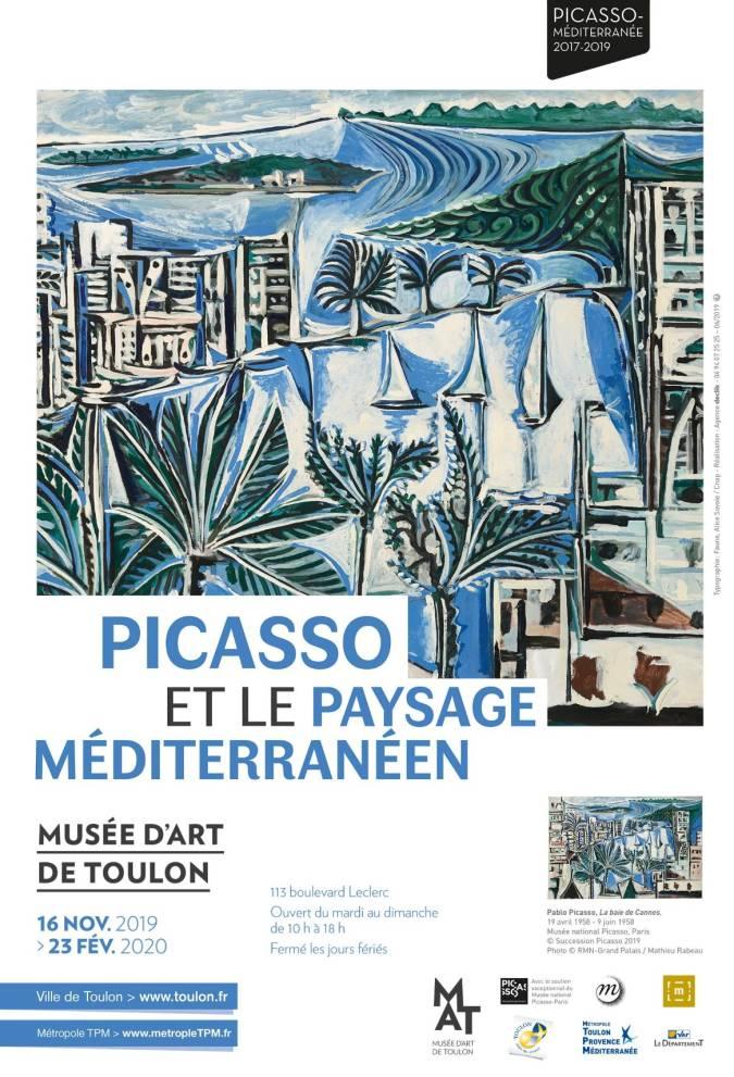 Affiche Picasso et le paysage méditerranéen.