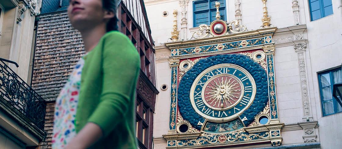 Le Gros-Horloge en Rouen.