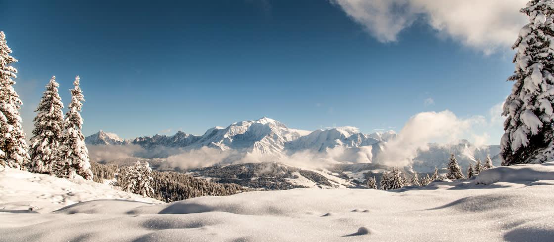 Miljovanlig Skidakning I De Franska Alperna France Fr
