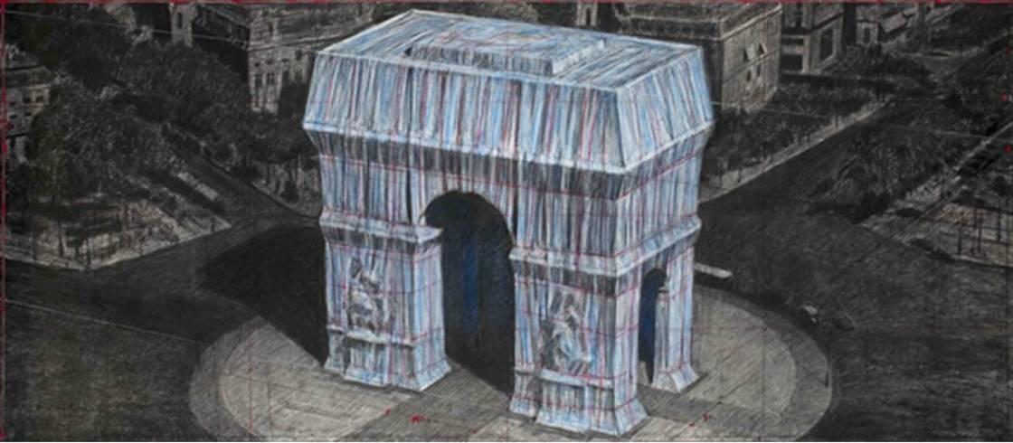 Christo gaat de Arc de Triomphe in Parijs inpakken.