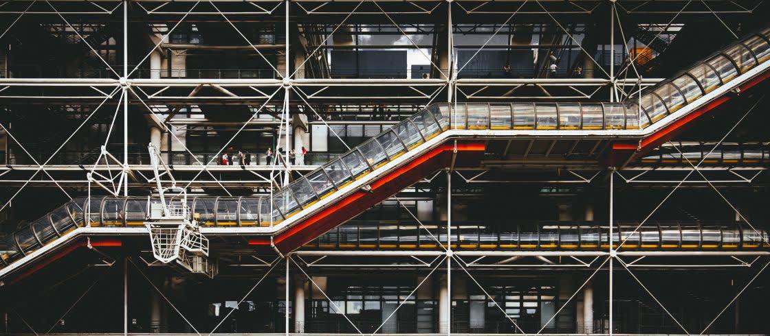Se organizan cerca de 20 exposiciones cada año en el Centro Pompidou.