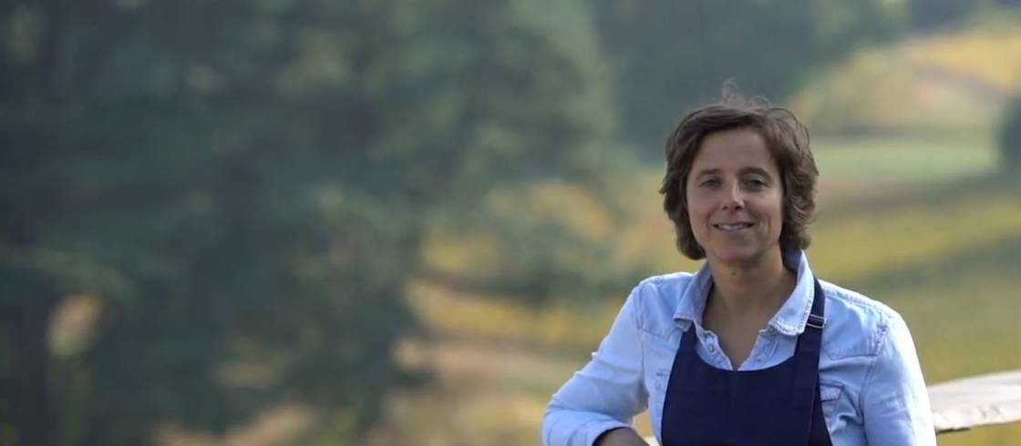 Charlotte Le Gallais works with sustainable viticulture methods to produce champagne on her family's estate in Boursault.