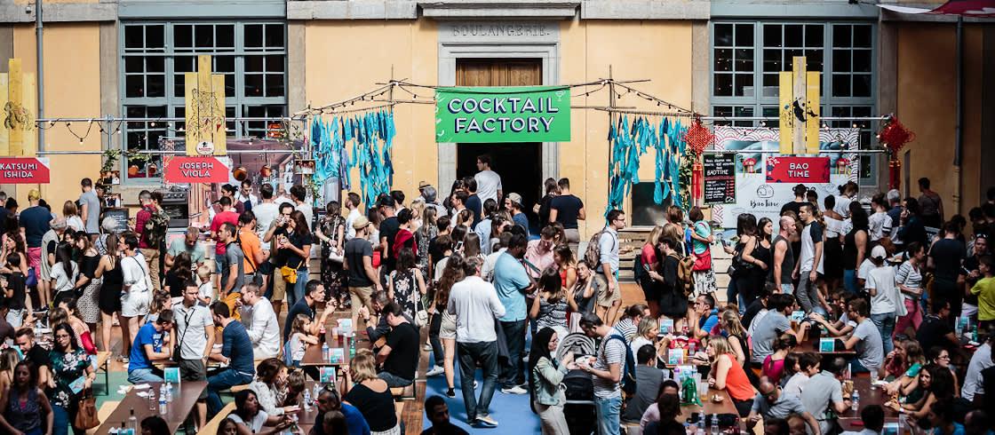 Ambiente agradable y gastronómico en el Lyon Street Food Festival.