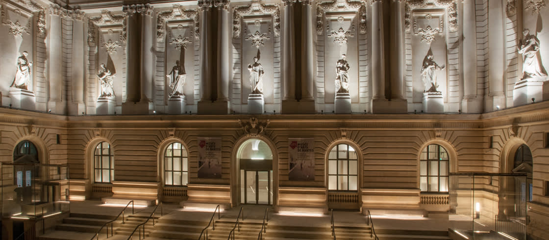 Außenansicht des Kunstmuseums (Musée d'arts) von Nantes