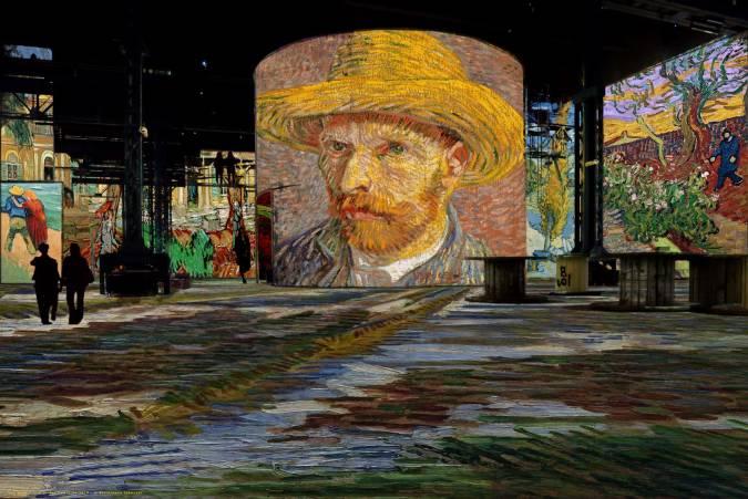 Simulación Van Gogh, La noche estrellada.