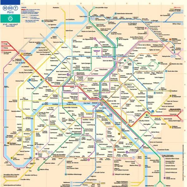 Cartina Metro Di Parigi.Cartine Dei Trasporti Pubblici Di Parigi