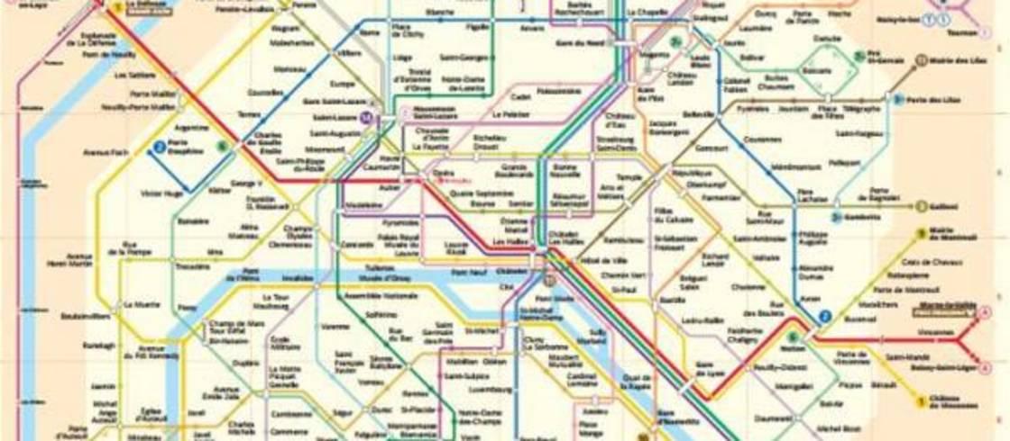 Cartina Treni Francia.Cartine Dei Trasporti Pubblici Di Parigi