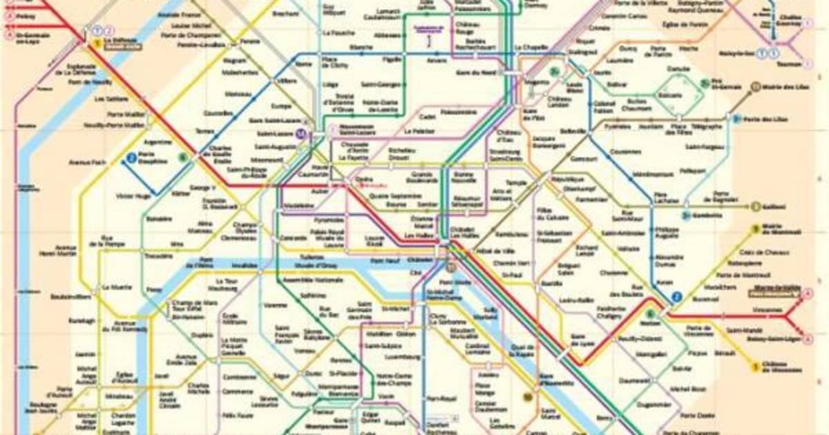 Cartina Metropolitana Di Parigi Da Stampare.Cartine Dei Trasporti Pubblici Di Parigi