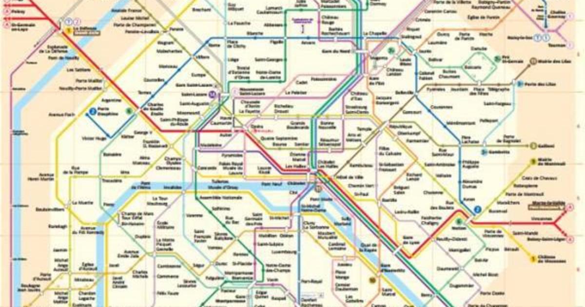 Cartine dei trasporti pubblici di parigi for Parigi non turistica
