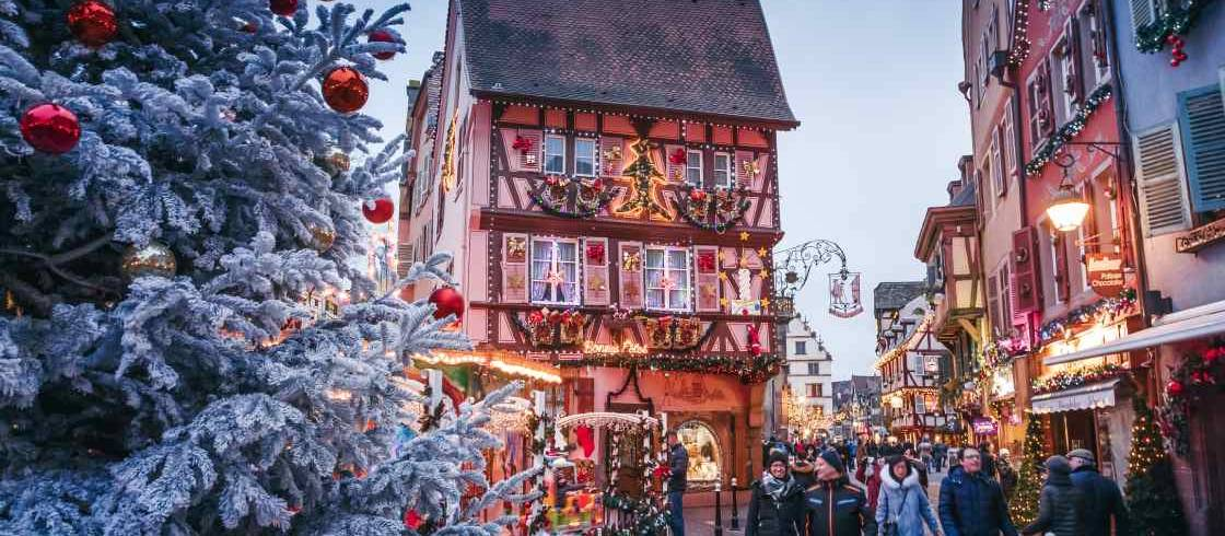 The famous Christmas markets of Alsace (like this one in Colmar) are coming to NYC's downtown!