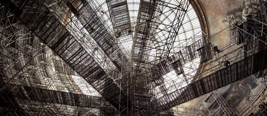 Las obras de restauración de la Bolsa de Comercio de París con vistas a instalar la Colección Pinault.