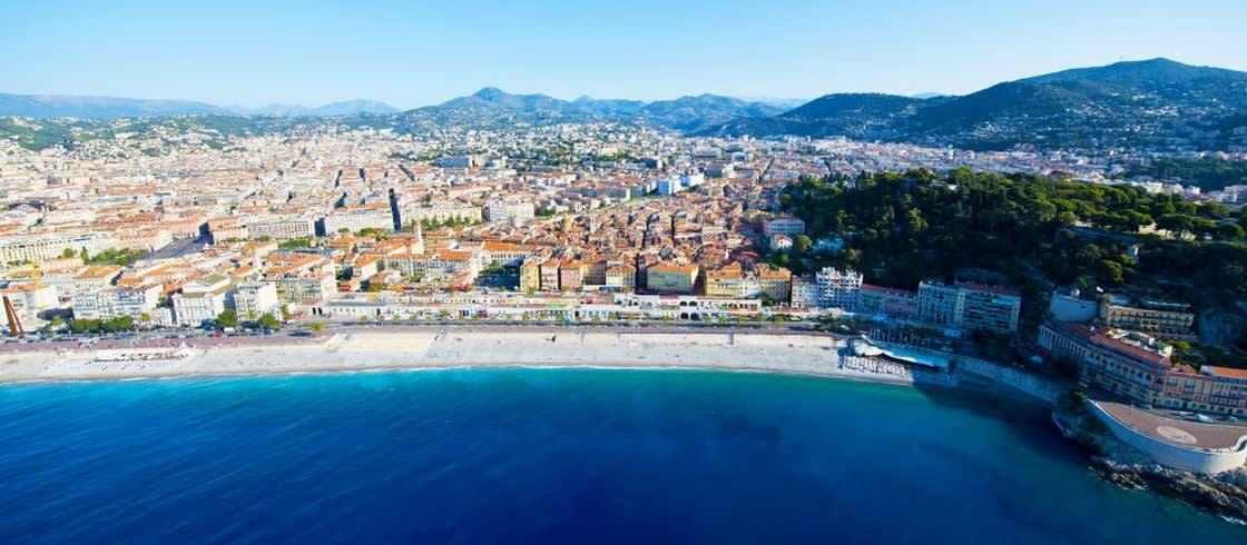 Pohled na Nice a Zátoku Andělů