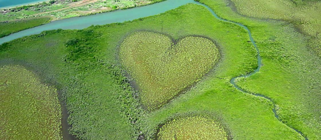 El corazón de Voh visto desde un ultraligero.