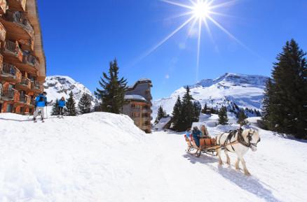 Calèche Avoriaz © Savoie Mont Blanc - Scalpfoto