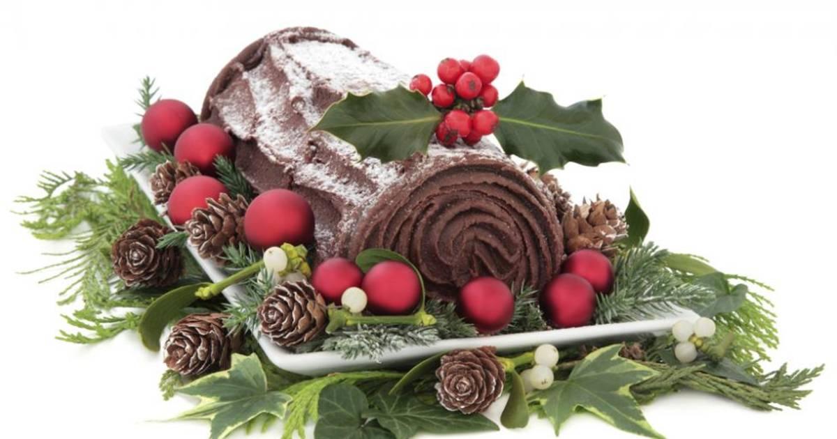 La Buche De Noel Traditioneller Kuchen Der Weihnachtszeit