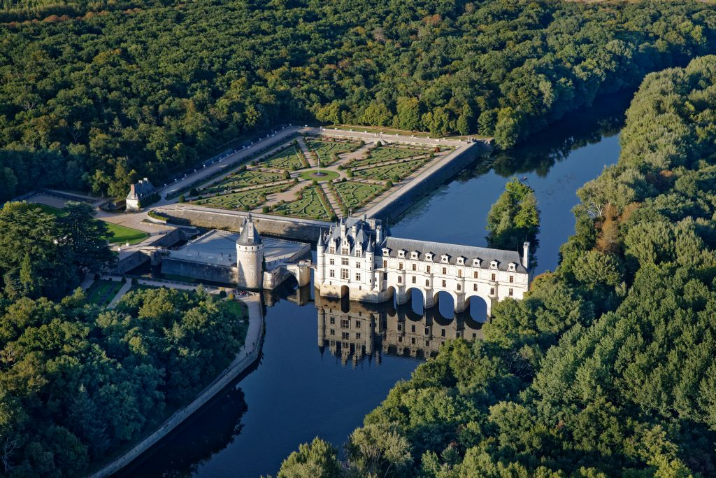 Chateau of Chenonceau from the sky Credit Ch Mouton