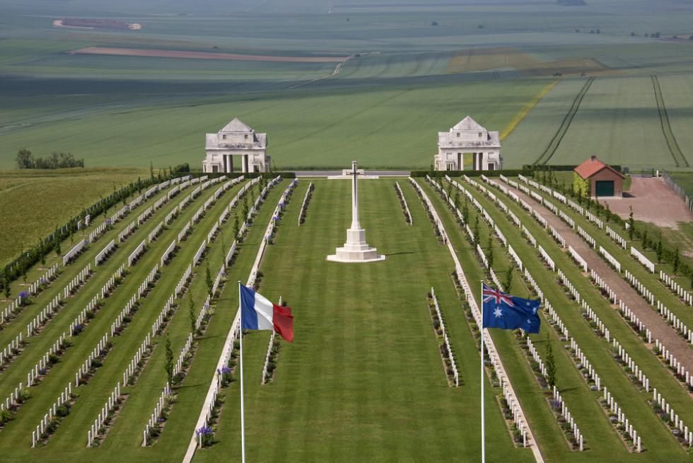 Das Australische Nationaldenkmal in Villers Bretonneux