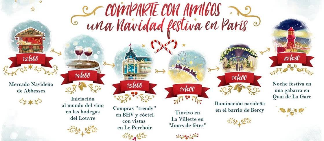 Comparte una Navidad alegre entre amigos en París