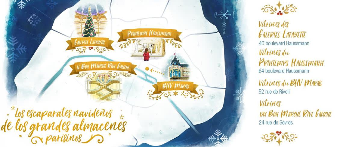 Los escaparates navideños de París