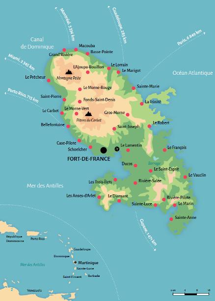 Carte de la Martinique©CMT