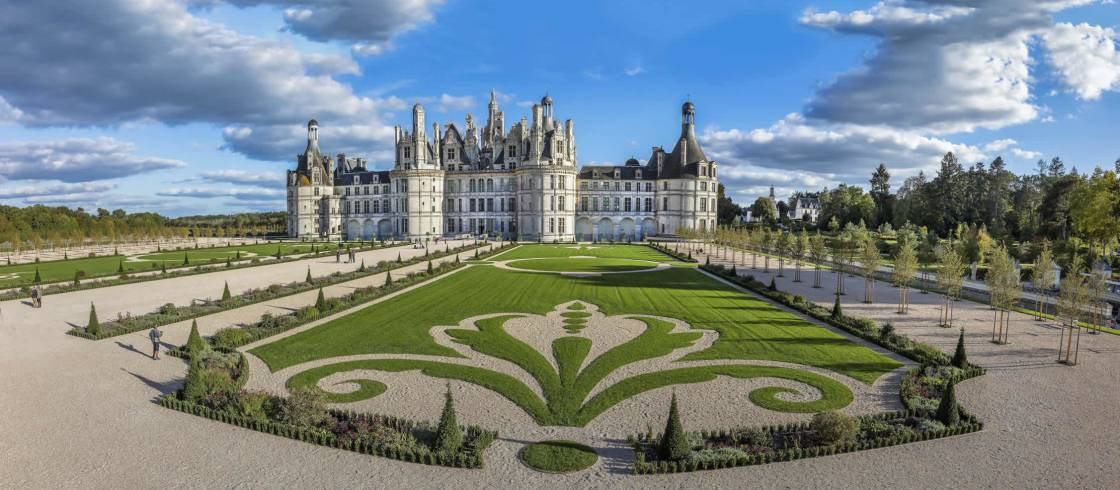 The Château de Chambord, one of the centerpieces of the French Renaissance court.