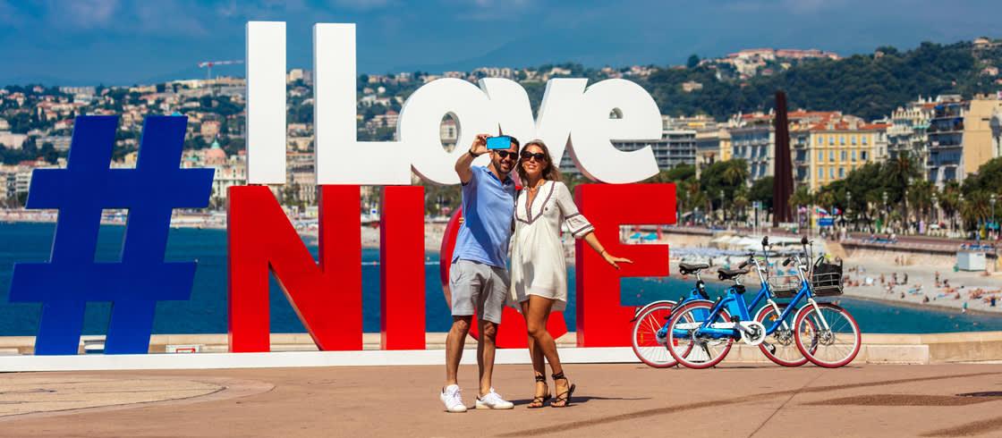 Nizza eignet sich perfekt für Entdeckungstouren mit dem Fahrrad