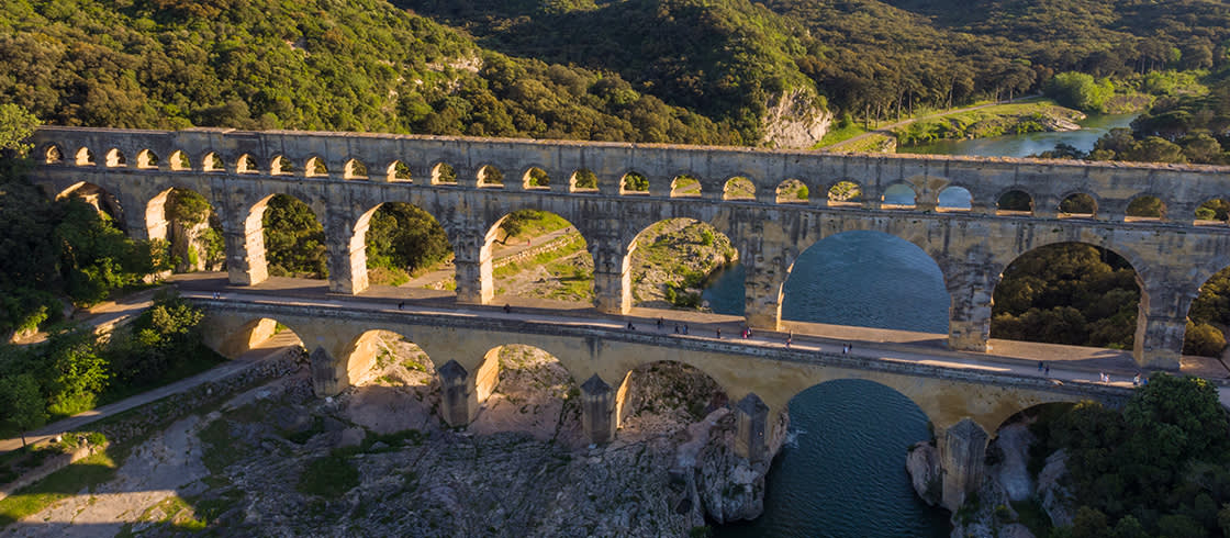 Passeggiando sul Pont du Gard