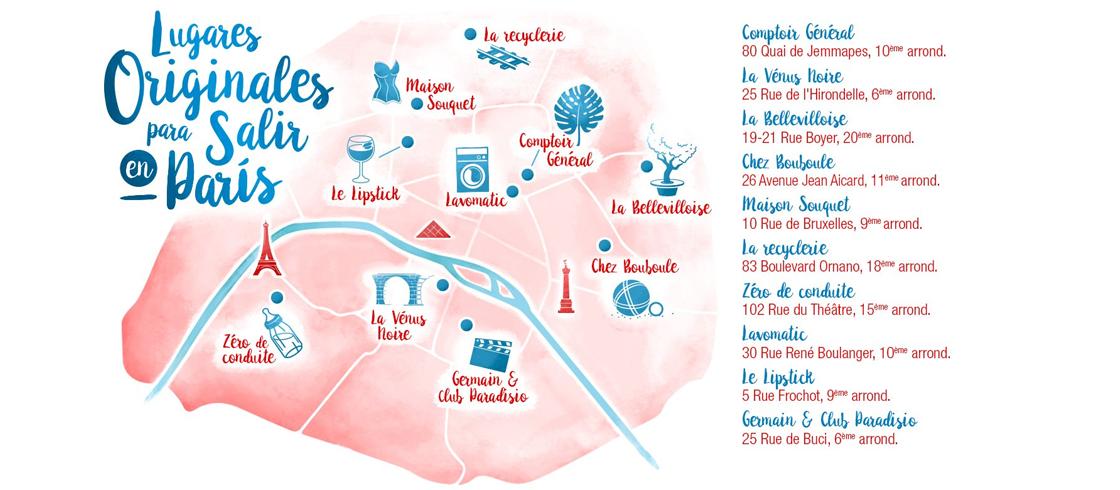 Lugares originales para salir en París
