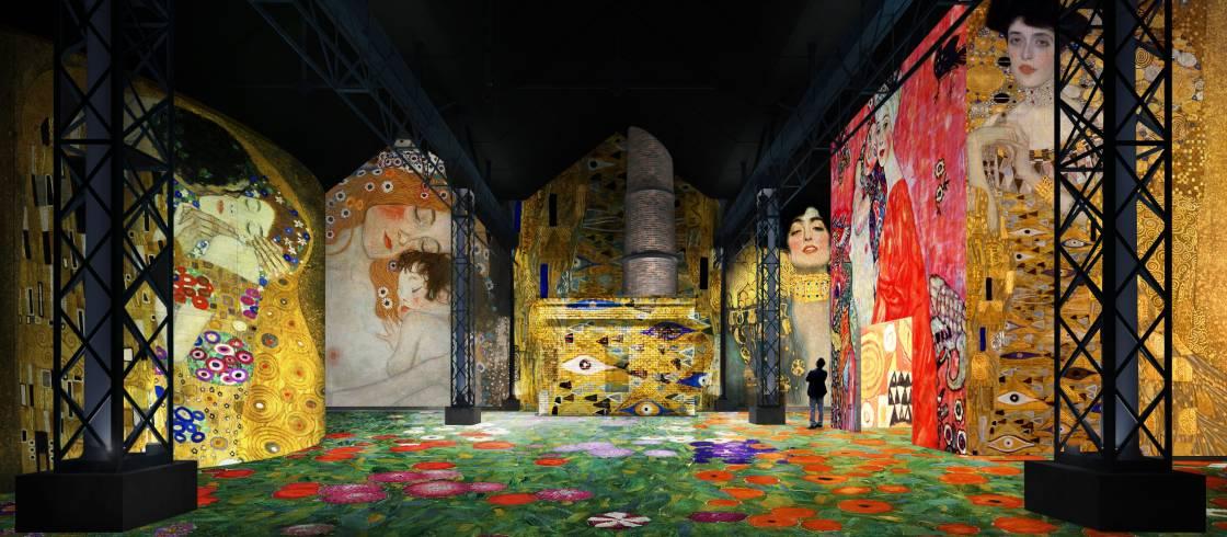 La obra de Gustav Klimt tiene el honor de estar en la primera temporada del Atelier des Lumières
