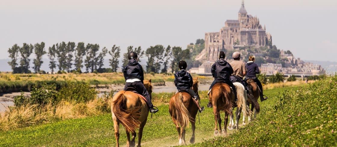 Normandië is een ideale bestemming voor een paardrijvakantie.