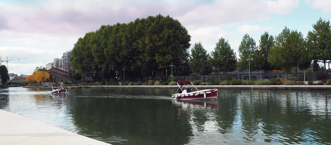 Seine Saint-Denis by boat, on Ourq canal