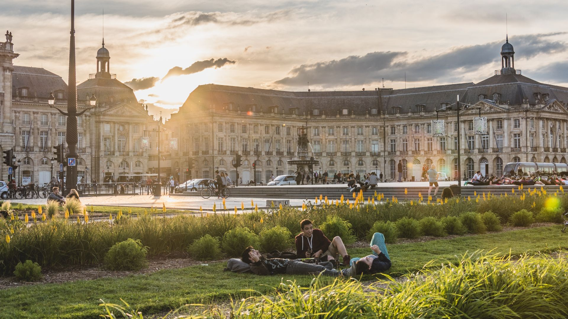 The scenic and historic Place de la Bourse in Bordeaux