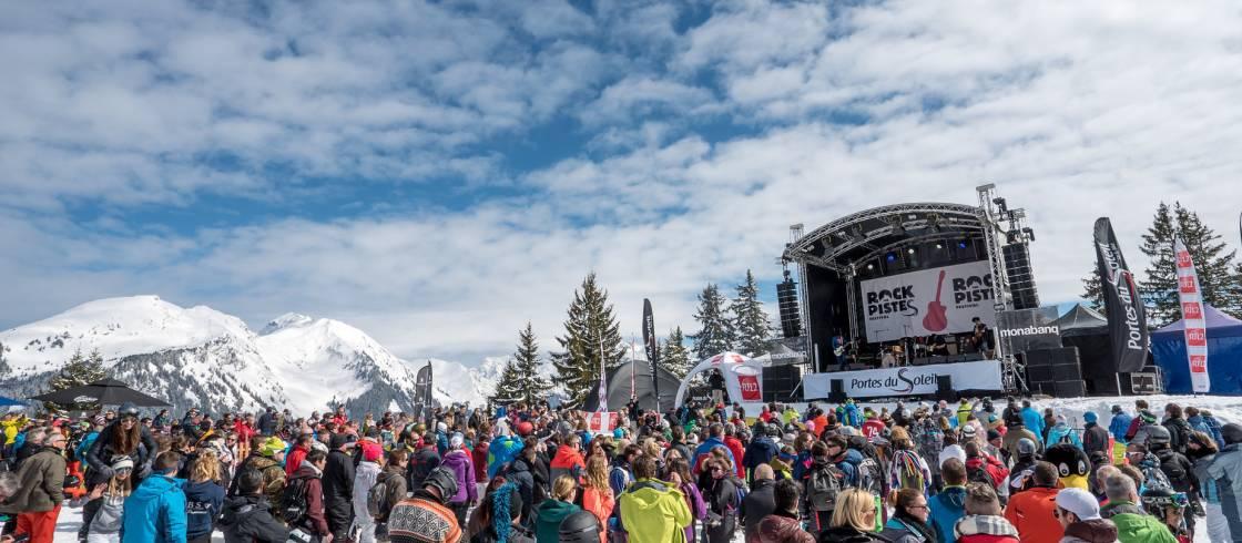Rock the Pistes Festival: concerten in de openlucht in Portes du Soleil in de Alpen.