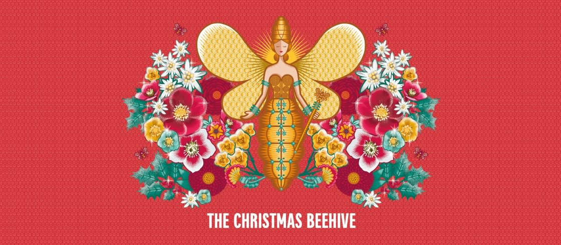 Christmas Beehive at Galeries Lafayette