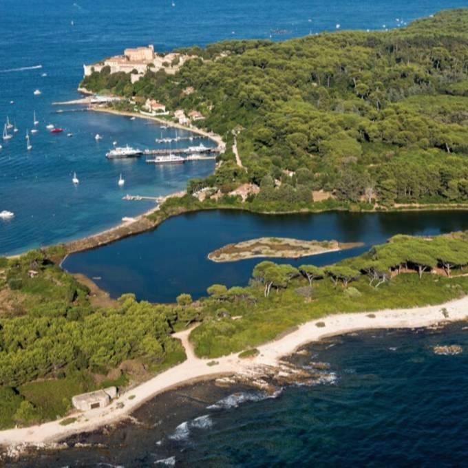 La isla Sainte-Marguerite, frente a Cannes.