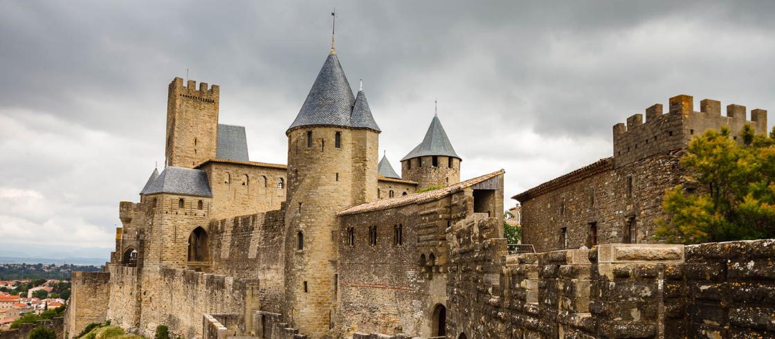 La ciudad fortificada de Carcasona.