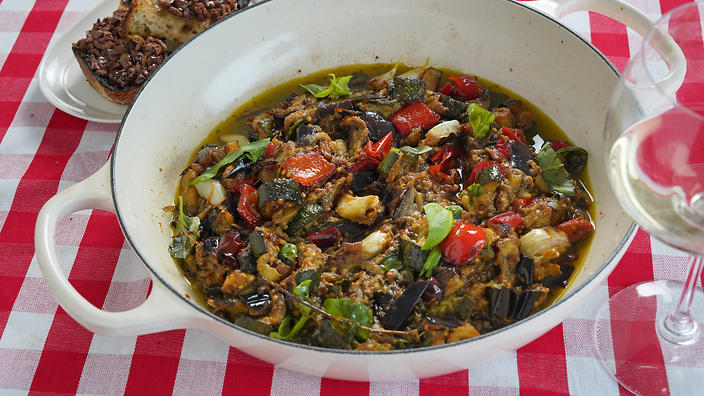 Ratatouille with tapenade