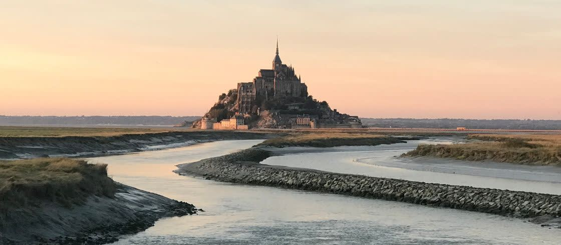 View of the Mont-Saint-Michel from its bay