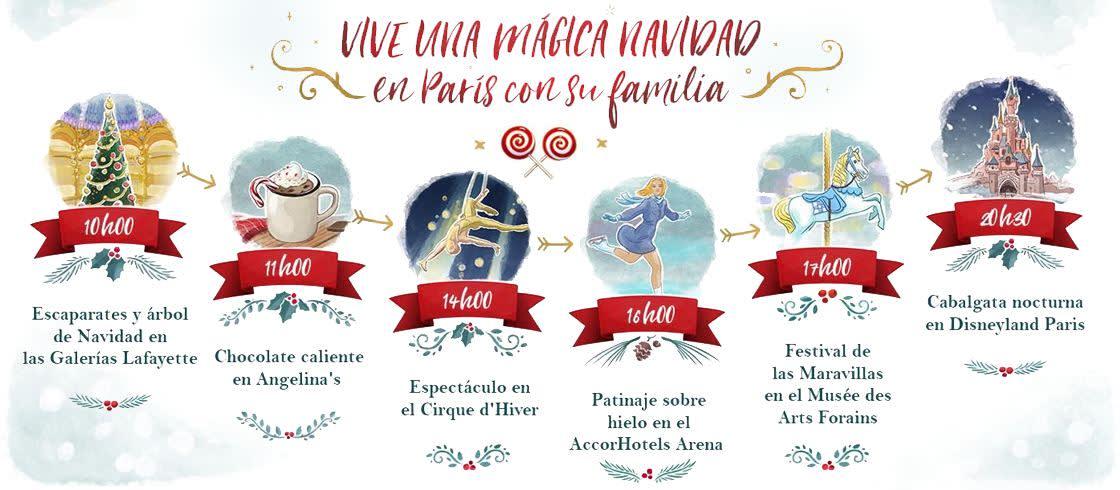 Viva una Navidad mágica junto con la familia en París